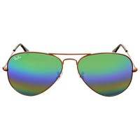 Ray Ban Green Rainbow Flash Aviator Sunglasses