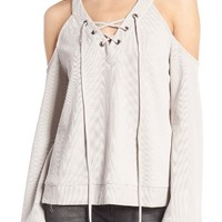 J.O.A. Cold Shoulder Cotton Top | Nordstrom