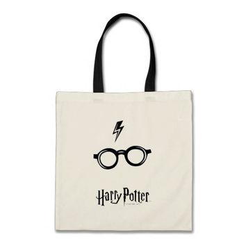 Harry Potter Spell | Lightning Scar and Glasses Tote Bag