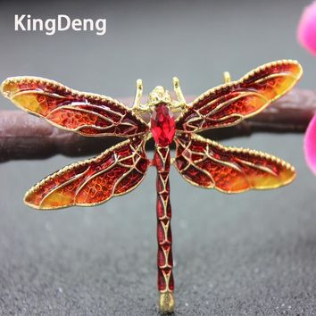 Dragonfly Brooches For Women Insect Brooch Enamel Pins Gifts For Women Four Colors Enamel Brooch Lapel Pin Badge Karl Jewelry