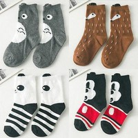 Baby Socks 4 Apposite Cute 1pair 1-10Y