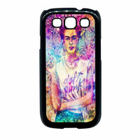 Frida Kahlo Flower Paintings On Galaxy Nebula Samsung Galaxy S3 Case