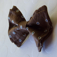 Brown with Blue Stars Bow Tie - Newborn to 5T