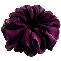 Plum Purple Eggplant Hair Scrunchie Chiffon Bridal Hair Accessories Elastic Pony Tail Holder Retro Fancy Gift for Her