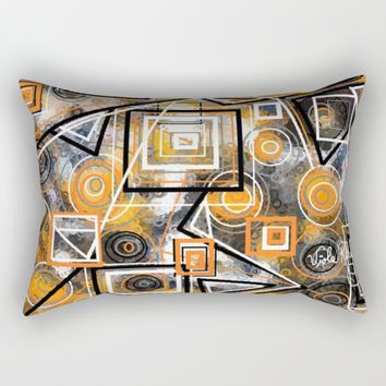 CIRCLES AND SQAURES Rectangular Pillow by violajohnsonriley