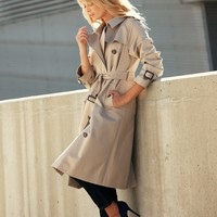 Trench Coat | Jackets & Coats | Pure Collection USA