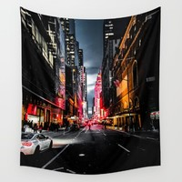 Gotham Wall Tapestry by Nicklas Gustafsson