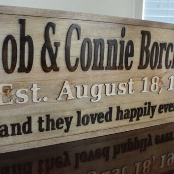 Personalized Family name signs CARVED Custom by michaelswoodworks