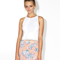 TESSA MINI SKIRT - PEACH CBG ROSE
