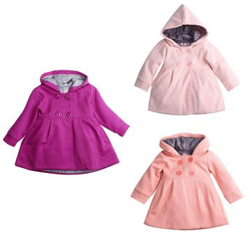 Fashion Baby Coats Baby Girl Clothes Jacket Autumn and Spring Cotton Lining Jacquard Baby Jas Coat Hooded Outerwear Jacket V30