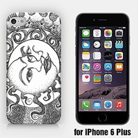 for iPhone 6 Plus - Moon & Sun - Hipster - Ship from Vietnam - US Registered Brand