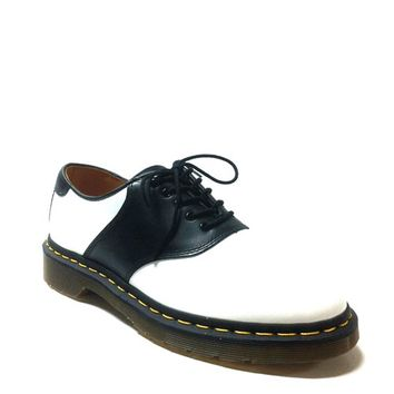 Dr. Marten – Rafi Saddle Shoes In Black/White | Thirteen Vintage