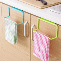 1Pc New Portable Kitchen Cabinet Over Door Hanging Towel Rack Holder Bathroom Hanger#226217