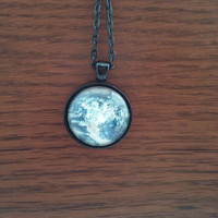 Earth Necklace-Palnet Earth-Gaia Planet Pendant-Universe Jewelry-
