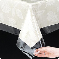 Spill-Guard Clear 3 Guage Vinyl Tablecloth Protector - Squarel (54'' W x 54'' L)