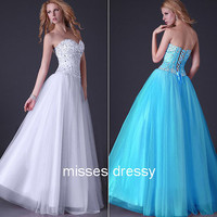 A-line Sweetheart Floor-length Chiffon Best-Selling Prom Dress with Crystal Beading