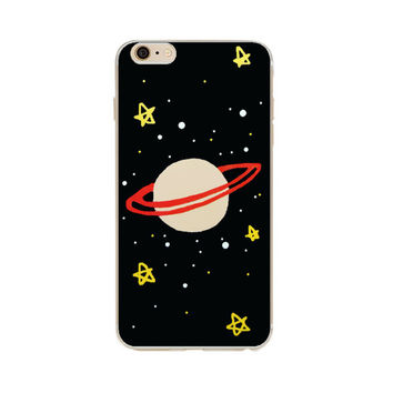 Saturn Stars Space Whimsy Case for iPhone
