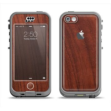 The Raw Wood Grain Texture Apple iPhone 5c LifeProof Nuud Case Skin Set
