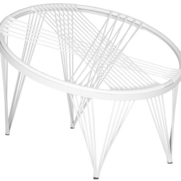 Launchpad Papasan Style Chair All White