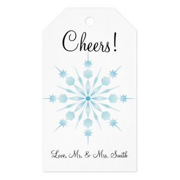 Cheers Winter Wedding Gift Tag Pack Of Gift Tags