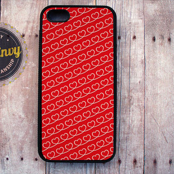 Red Heart Pattern Valentine's Day Case iPhone 5 / 5s case