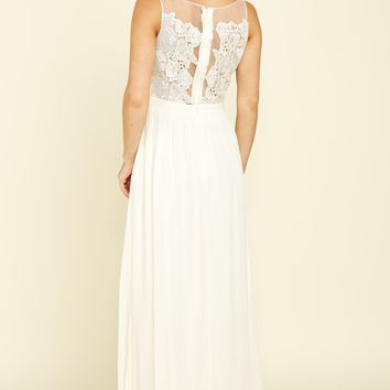 Where The Heart Is Ivory Maxi Dress