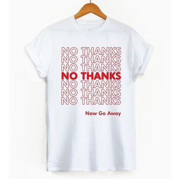 No Thanks Have A Nice Day Letters Harajuku Shirt Christmas Shirt Aesthetic Plus Size Women Pink Fall Clothing Causal T Shirts