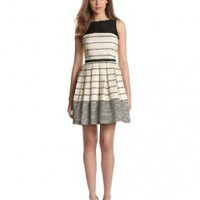 Taylor Dresses Women's Stripe Fit And Flare Dress
