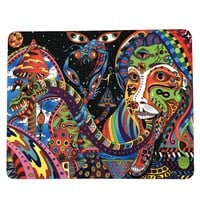 "8""x10"" Trippy Psychedelic Art Dragon Mouse Pad Dab Mat Oil Absorbent Dabpad"