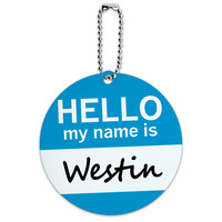 Westin Hello My Name Is Round ID Card Luggage Tag