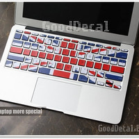 UK Flag -- Macbook Pro Keyboard Decal  Sticker Macbook Air Keyboard Decal Apple Mac Vinyl Decal Sticker Cover Skin
