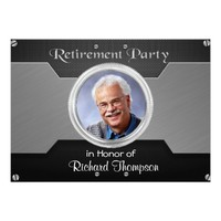 Elegant Photo Retirement Party Invitations