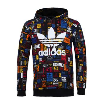 Adidas Rainbow Print Women's Long Sleeve Hoodies Sweater