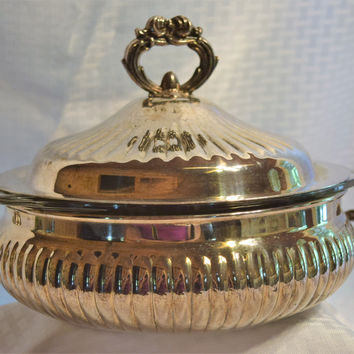 Leonard Silver Plated Casserole Server with Glass Insert