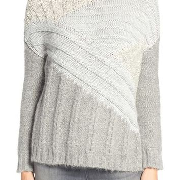 Current/Elliott Mixed Cable Knit Sweater | Nordstrom