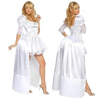 Alice in Wonderland Cosplay Costume The White Queen Costume Deluxe White Dress Wonderful Halloween Costumes For Women Clearance