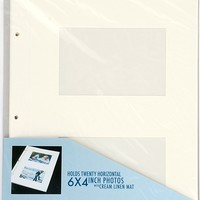 """Matted Album Refill Pages for 6""""x4"""" Photos"""