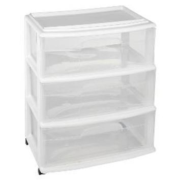 3-Drawer Wide Cart White - Room Essentials™ : Target