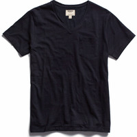 Pocket V-Neck T-Shirt in Japanese Indigo