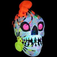 SheilaShrubs.com: Light Show Skull with Spiders-Kaleidoscope 51917X by Gemmy: Halloween