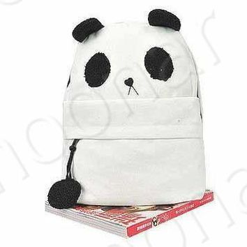 2pcs/lot Composite Bags Mother&Baby Panda Shoulder Bag Lovely Women Girls Canvas Book Backpack Book School Bags