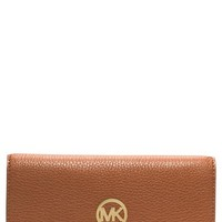 Women's MICHAEL Michael Kors 'Fulton' Trifold Leather Wallet
