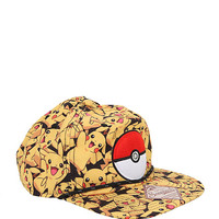 Pokemon Pikachu Allover Snapback Hat