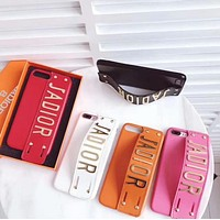 DIOR Popular Leather Mobile Phone Shell For iphone 6 6s 6plus 6s-plus 7 7plus 8 8plus X (5-Color) I13337-1