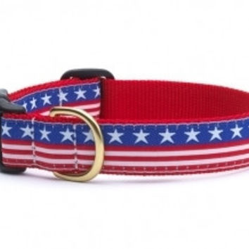 Stars and Stripes Dog Collar and Lead