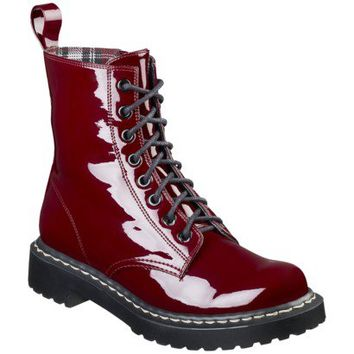 Women's Xhilaration® Kaliey Patent Boot - Red