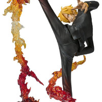 "Japan Anime  Bandai Tamashii One Piece Sanji Diable Jambe Flambage Shot  6.7"" Action Figure Toys Loose"