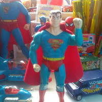 Superman vintage action figure,DC 1989, superpowers,toys,comics,superhero,marvel,dc,retro toys,Pop,eighties,4 inch,pre owned, collectable,