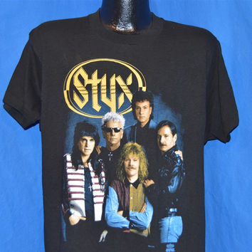 1991 Styx Edge of the Century Tour Two-Sided t-shirt Large