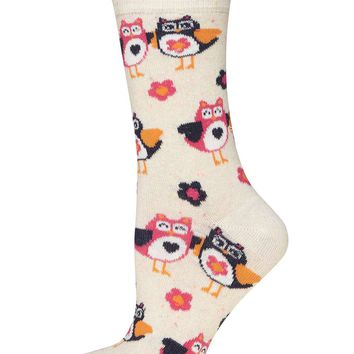 Cream Neppy Owl Socks - Dorothy Perkins